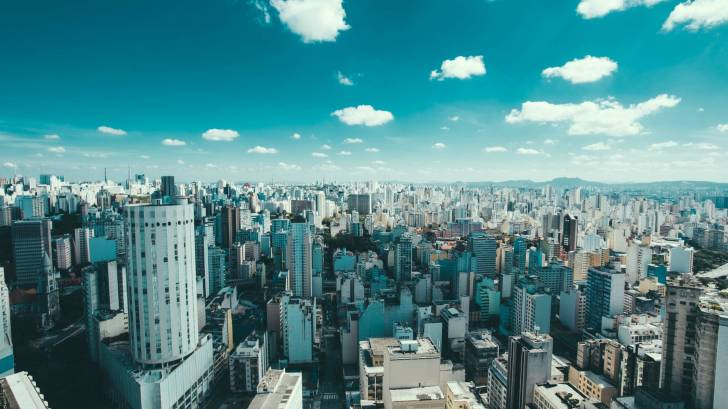 city scene of brazil