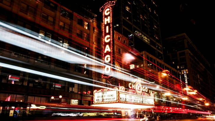 chicago night time