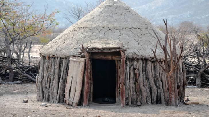 hut in africa village