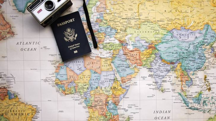 passport map of the world