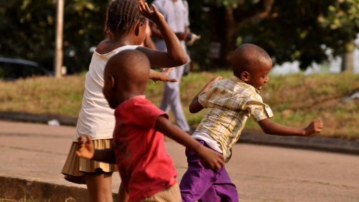 african children playing