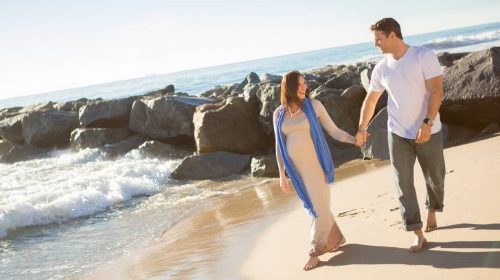 pregnant beach