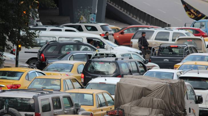 traffic jam in Baghdad