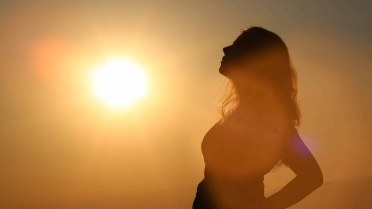 sunshine, woman pregnant