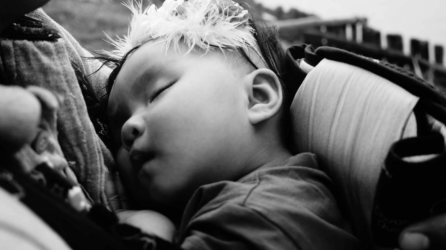 sleeping baby girl healthy