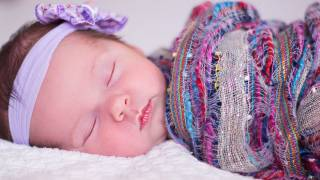 cute baby girl sleeping and healthy