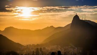 rio sun set looking over mountains