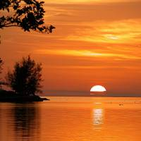 sun set over key west